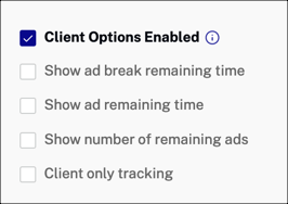 Client Options Enabled
