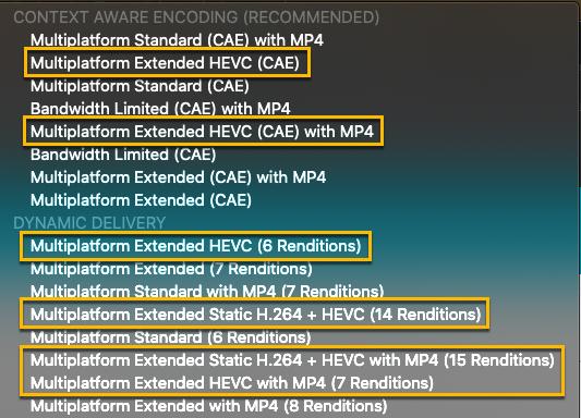 HEVC 입수 프로파일