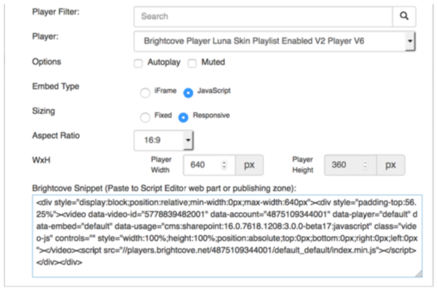 In-Page Embed Sample Implementation