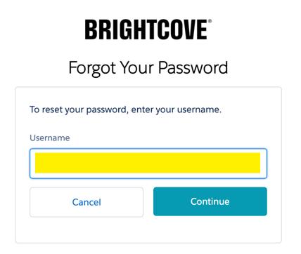 Forgot Your Password Dialog